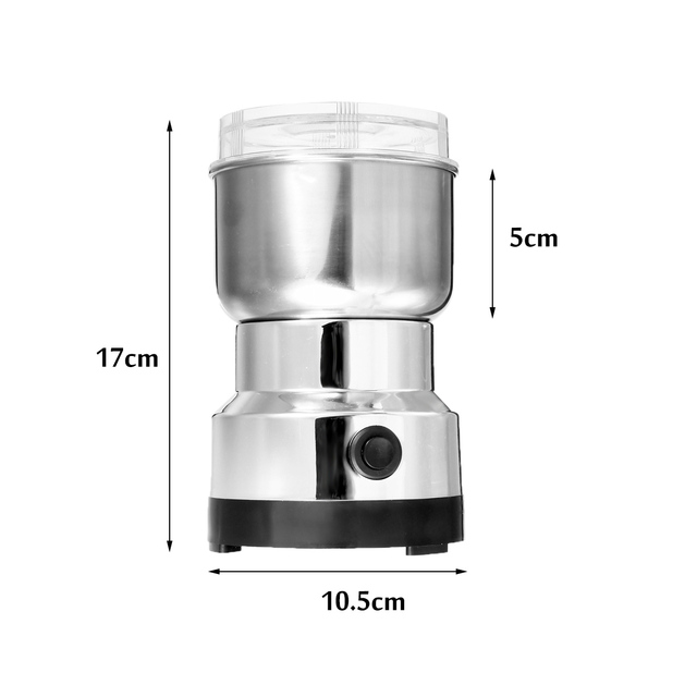 Warmtoo Electric Coffee Bean Grinder 300ml Blenders For Home Kitchen Office Stainless Steel 150W 220V Portable Home Office Use 4