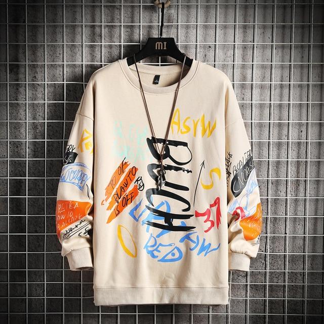 SingleRoad-Sudadera de cuello torcido para hombre, ropa informal japonesa de gran tamaño, Hip-Hop, Sudadera con capucha para hombres, color negro, Harajuku, 2021 5