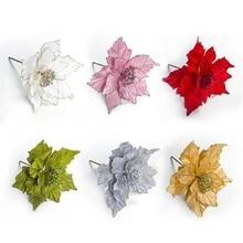 1pcs Christmas Simulation Flower Leaves Arrangement Tree Powdered Wedding Decoration Artificial