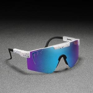 Original Pit Viper Sport google TR90 Polarized Sunglasses for men/women Outdoor windproof eyewear 100% UV Mirrored lens(China)