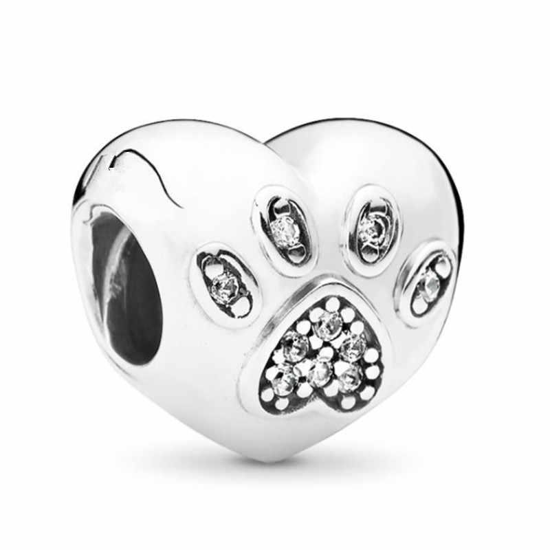 Silber 925 Minnie Mickey Sicherheit kette Krone Junge Anhänger Fit Pandora Charms Armbänder DIY Frauen Silber Original-Bead Schmuck