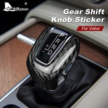 AIRSPEED for Volvo XC60 XC90 S60 V60 S90 V90 S80 V40 XC70 Accessories Carbon Fiber Sticker Gear Shift Knob Cover Interior Trim
