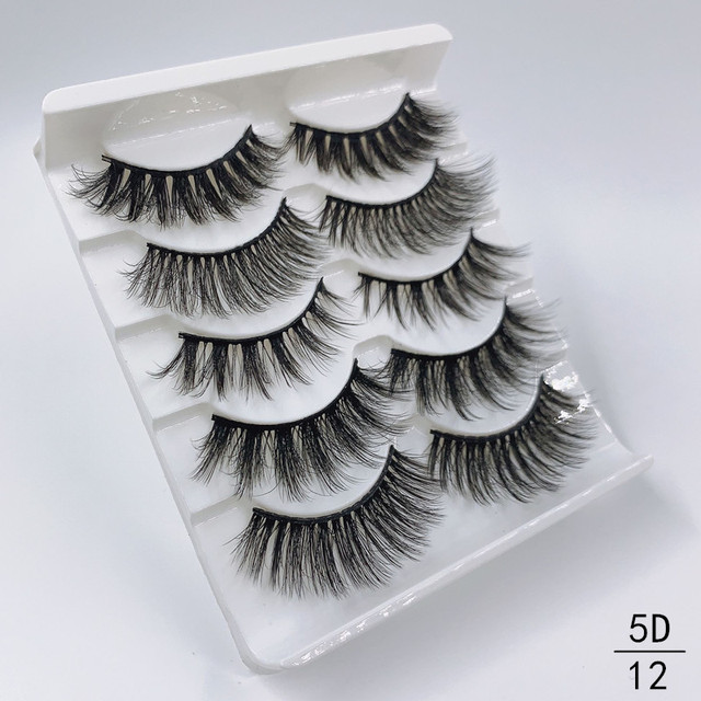 High quality 5 pairs 3d mink eyelashes wholesale fluffy eyelashes mink eyelash natural false eyelashes extensions 4