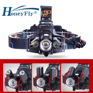 HoneyFly 360 Rotate Telescopic Zoomable Head Lamp USB 18650 Rechargeable T6 LED 4 Modes Bicycle Frontale Headlamp(China)
