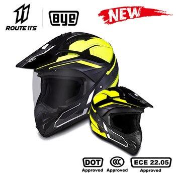 BYE Motorcycle Helmet Crash Motorbike Racing Moto Helmet Biker Motocross Helmet Full Face Helmets ECE DOT Certification