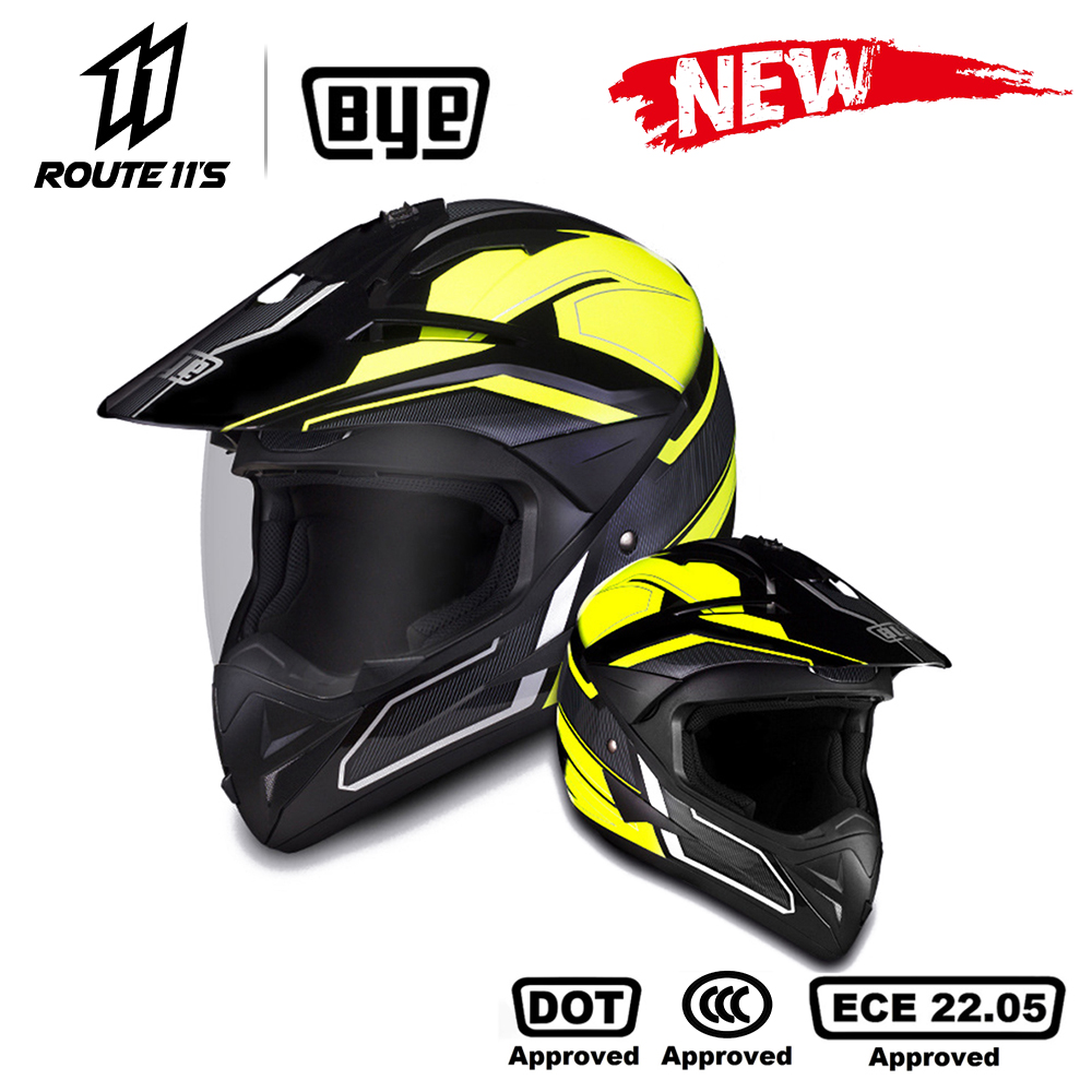 BYE Motorcycle Helmet Crash Motorbike Racing Moto Helmet Biker Motocross Helmet Full Face Helmets ECE DOT Certification
