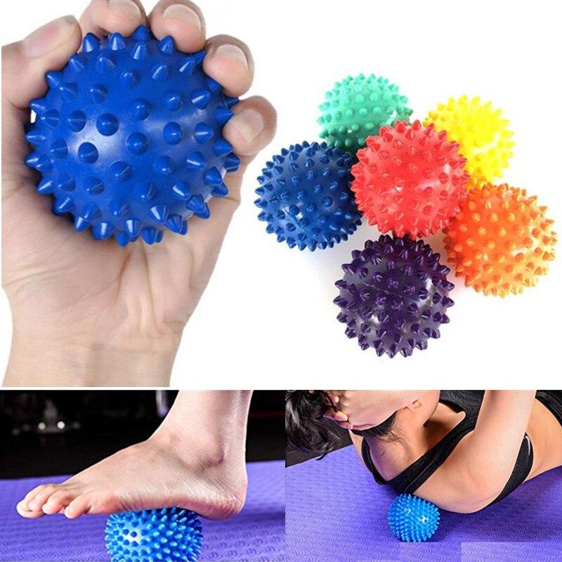 Bola de masaje de 7 colores con forma de bola de masaje para pies de espalda de PVC 10 piezas decoración bola globo forma transparente colgante florero FLORES PLANTAS 2019