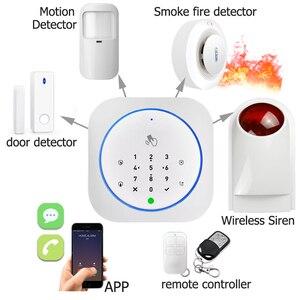 Image 4 - Sistema de alarme seguro app gsm, teclado touch, 433mhz, porta aberta e fechada, alarme, infravermelho, imunidade animal detector de movimento