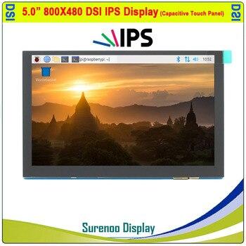 Pantalla Táctil TFT de 5,0 pulgadas para Raspberry Pí, 800x480 IPS, a color, táctil capacitivo multitáctil MIPI DSI, módulo de pantalla LCD, pantalla de Monitor 1