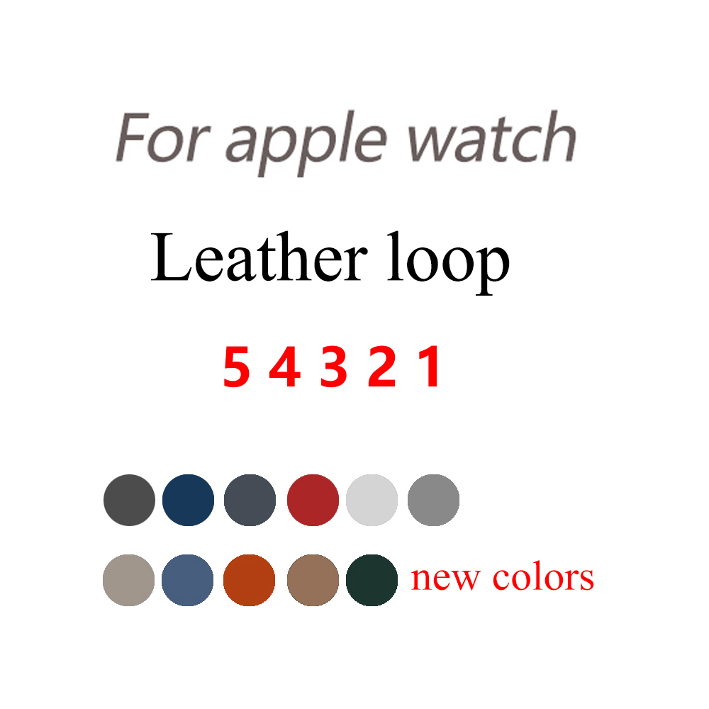 Leather Loop For <font><b>Apple</b></font> <font><b>watch</b></font> 5 4 3 band <font><b>Apple</b></font> <font><b>watch</b></font> 44mm 40mm <font><b>42mm</b></font> 38mm iWatch <font><b>2</b></font> band <font><b>pulseira</b></font> bracelet <font><b>apple</b></font> <font><b>watch</b></font> Accessories image