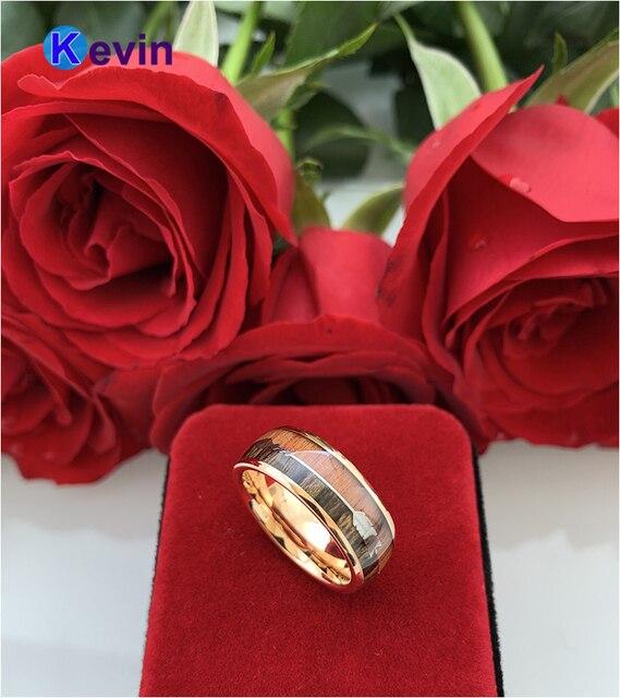 Купить обручальное кольцо из вольфрама цвета розового золота для мужчин картинки