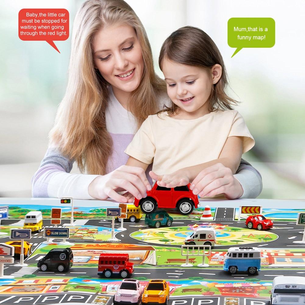 Children Play Mats House Traffic Road Signs Car Model Parking City Scene Map SER88
