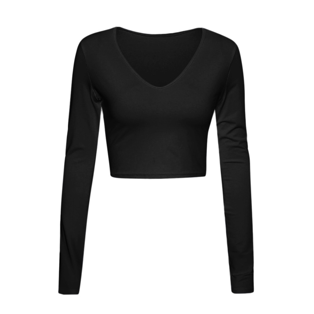2020 Spring Fashion Women's Shirt Solid Long Sleeve Square-Neck Tops Autumn Ladies Long Tight Bottom Shirt Pullover Mujer