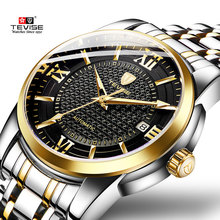 Tevise Men Watch Calendar Automatic Mechanical Watches Top Brand Luxury Waterproof Skeleton Male Wristwatch Relogio Masculino on AliExpress