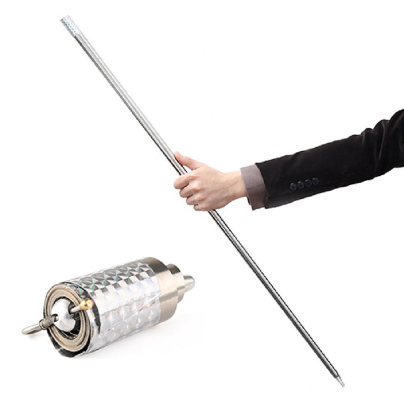 Wonderful Appearing Cane Metal Silver Magic Tricks Close Up Illusion Silk To Wand Fun Funny Gadgets Gold Hoop Toys For Children