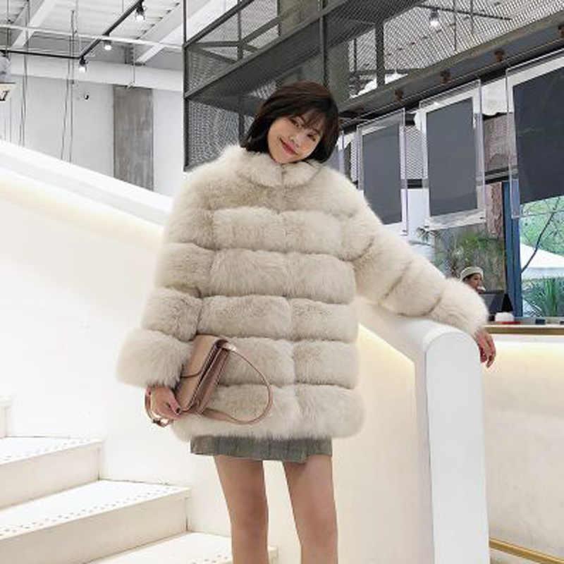 פו פרווה מעיל נשים חורף פלאפי מעיל סתיו 2020 חורף אישה פרווה מעילי ורוד מעילי Streetwear Manteaux Femme KJ982