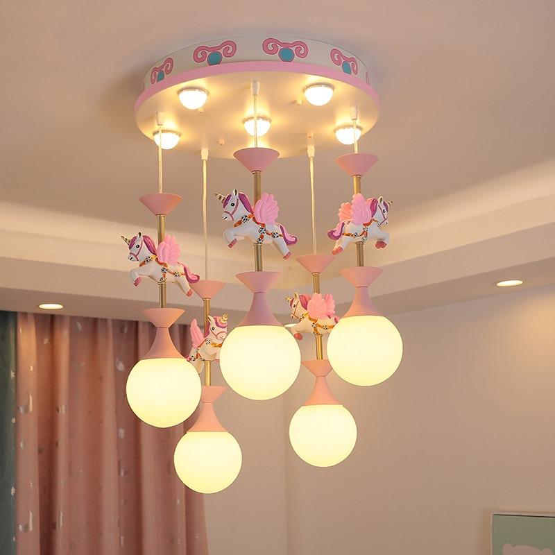 Ceiling Light For Kids Room Hobbyhorse Led Cute Bedroom Lights For Girls Room Baby Room Girl Lamp Boys Bedroom Light Lighting Pendant Lights Aliexpress