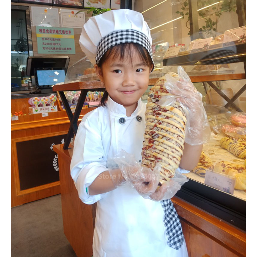 Food Service Children Chef Uniform Halloween Costumes For Kids Boys Girls Role-play Cook Master Cosplay Performance Christmas