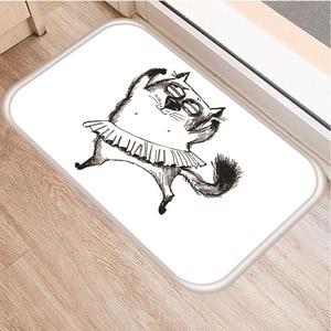 Image 3 - Cute Cat Pattern Non slip Bedroom Decoration Soft Carpet Kitchen Floor Living Room Floor Mat Bathroom Non slip Door Mat 40x60cm.