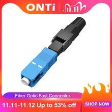ONTi conector rápido de fibra óptica SC UPC integrado, 400 piezas, FTTH, modo único, conector rápido SC, montaje de campo