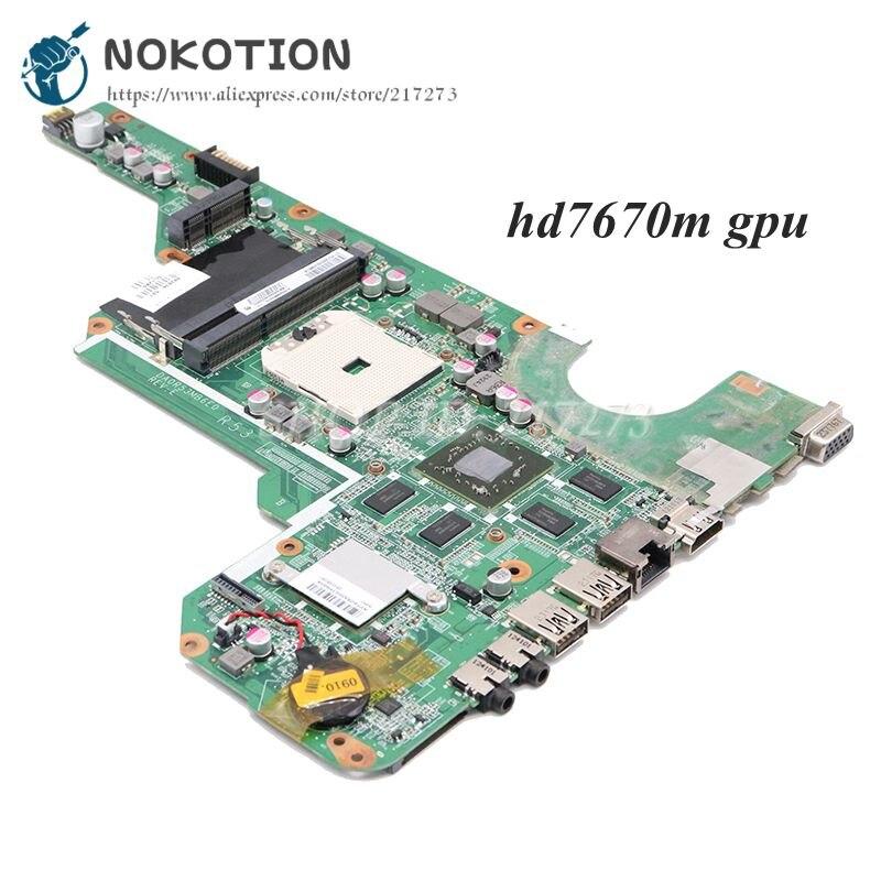 NOKOTION 683030-001 683030-501 DA0R53MB6E1 основная плата для HP Pavilion G6 G6-2000 G4 G4-2000 G7-2000 материнская плата для ноутбука