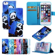 Painted Flower Flip Case for LG Q Aristo 2 Plus Stylus Stylo 4 Wallet PU Leather Panda LV3 K8 2018 US Version