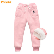 лучшая цена VFOCHI New Girls Pencil Pants Winter Thick Velvet Pants Stretch Waist Kids Pants Warm Children TrousersBaby Girls Thicken Pants