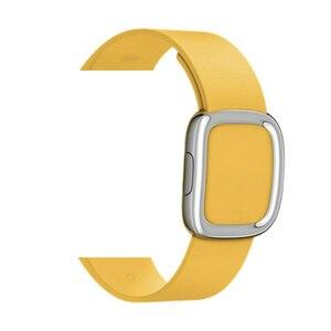 Image 3 - Bracelet en cuir véritable pour bracelet de montre Apple 4 5 44mm 40mm bandes de boucle modernes pour iwatch série 3 2 1 bracelet 42mm 38mm
