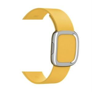 Image 3 - Lederen Band Voor Apple Horloge Band 4 5 44Mm 40Mm Moderne Gesp Bands Voor Iwatch Serie 3 2 1 Band 42Mm 38Mm