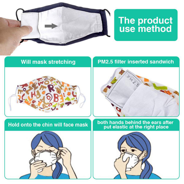 #H30 2/4/6/8/12 pcs/packs 5 Layers Filter Face Mask PM2.5 Face Mask Filter Activated Carbon Breathing Filters Adult 2