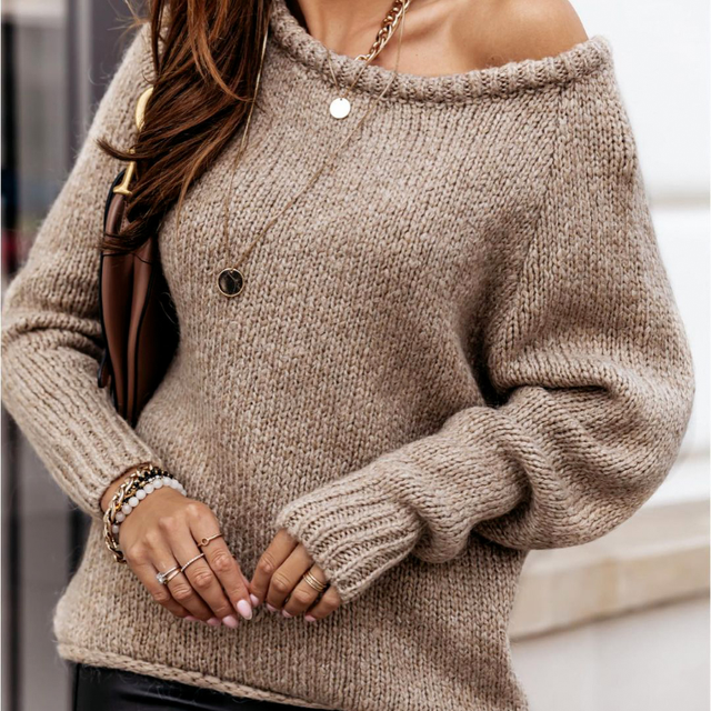 Plus Size 2021 Autumn Winter Long Sleeve Women Sweaters Pullovers Loose Oversized Sexy O-Neck Knitted Warm Sweater Woman Jumper 2