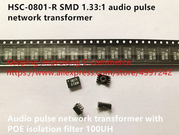 Original new 100% HSC-0801-R SMD 1.33:1 audio pulse network transformer with POE isolation filter 100UH image