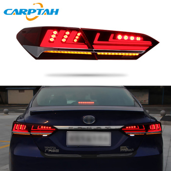 Car Styling Taillight Tail Lights For Toyota Camry 2018 2019 Rear Lamp DRL + Dynamic Turn Signal + Reverse + Brake LED Lights