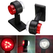 2 sztuk 10-30V światła obrysowe biały czerwony światło obrysowe boczne lampka ostrzegawcza dla ciężarówka ciężarówka przyczepa furgonetki ciągnika tanie tanio Taochloe CN (pochodzenie) Klirens lights Brak 12 V 24 V Inquiry Uniwersalny Position Light