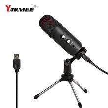 Профессиональный конденсаторный usb микрофон yarmee kalaoke
