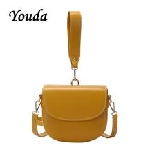 Youda 2019 New Retro Fashion Style One Shoulder Saddle Bag Semi-circular Shape Handbag French Ladies Niche Messenger Bags