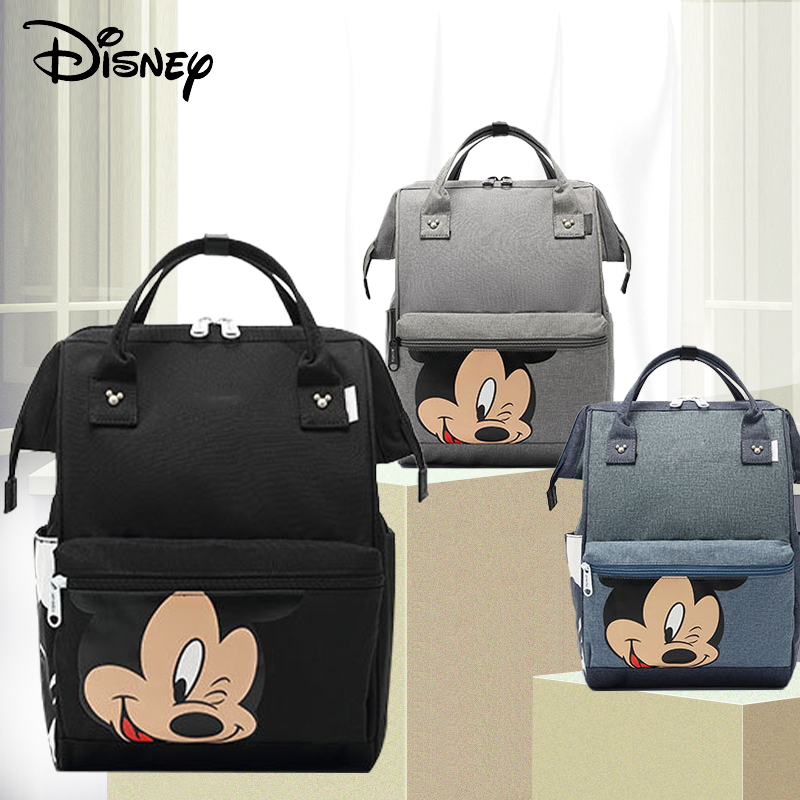 Disney Mickey Minnie Diaper Bag Fashion Mummy Maternity Nappy Bag Large Capacity Baby Bags For Mom Multifunctional Wet Bag Nappy