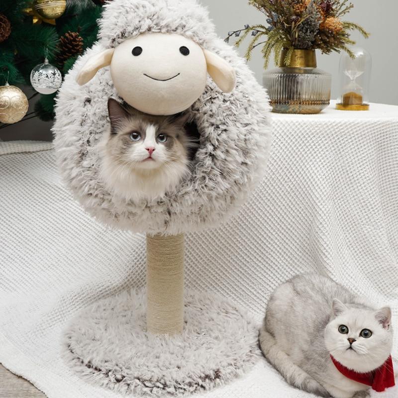 Climber For Pet Cat Small Sheep Cat Nest Cat Tree One-piece Cat Toy Summer Cat Nest Supplies