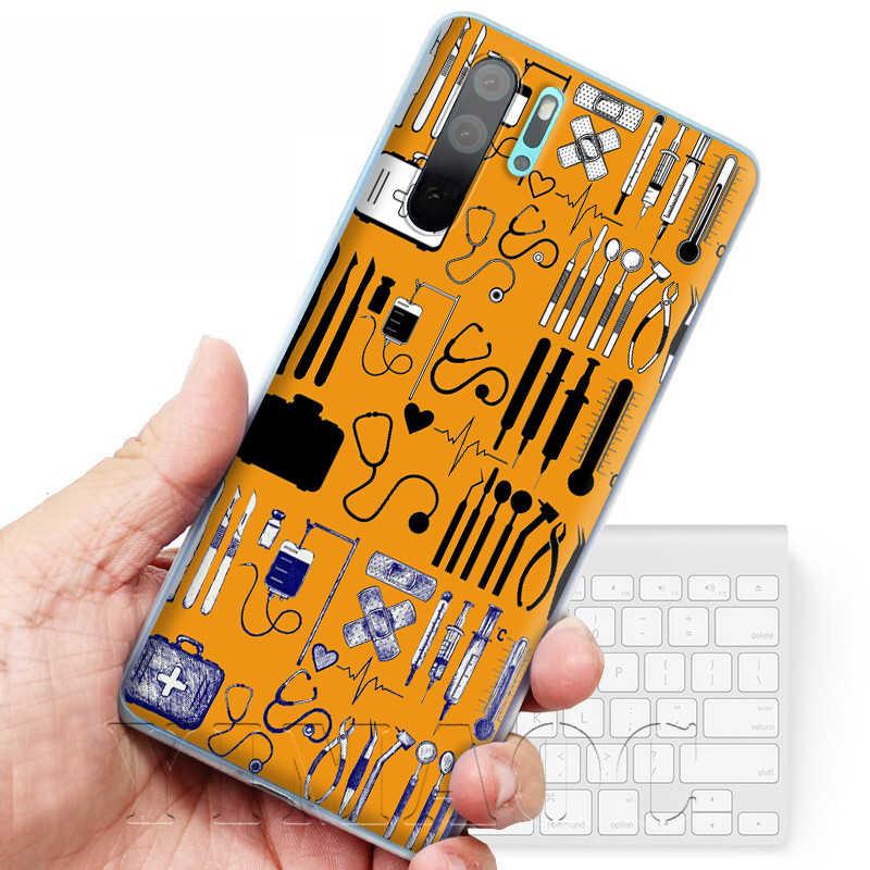 YIMAOC Infermiera Medica Salute Del Cuore Cassa Del Telefono per Huawei P8 P9 P10 P20 P30 Lite Pro P Smart Z 2018 2019