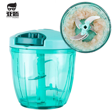 YAJIAO 900ML Multifunction Meat Grinder Mincer Food Processor for Kitchen Meat Fruit Salsa Pepper Onion Nut Hand-Powered Chopper