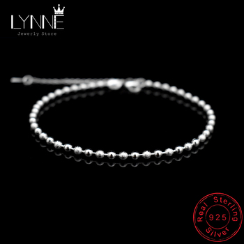 New Classic Simple Small Round Ball Bead Anklets Foot Chain For 925 Sterling Silver Ladies Foot Anklet Bracelet Women Jewelry