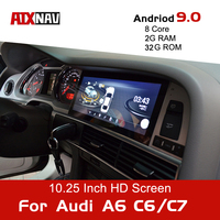 Android 9.0 8Core Car Navigation for Audi A6 Avant C6 C7 Auto Radio One Din Audio Car Multimedia Player DVD Bluetooth Screen