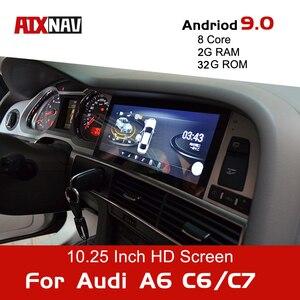 Android 9.0-8Core de Navigation de voiture | Pour Audi A6 Avant C6 C7 autoradio One Din Audio, lecteur multimédia DVD, Bluetooth écran