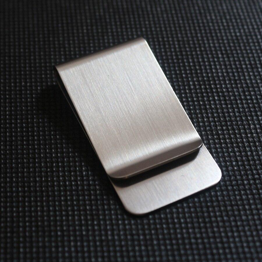 2020 de aço inoxidável fino bolso homens design dinheiro clipe carteira dinheiro id cartão de crédito titular do dólar de negócios metal bill braçadeira