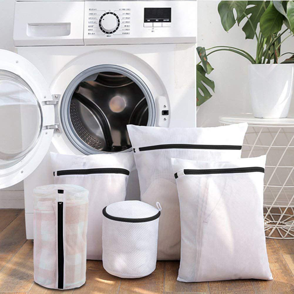 Zipped Wash Bag Underwear Clothes Laundry Machine Washing Protector Reusable 1PC
