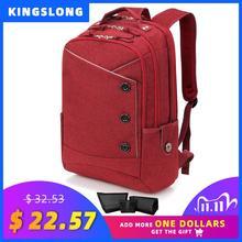 Kingslong sac à dos imperméable de travail pour femmes, cartable décole pour voyage sac à dos pour ordinateur portable pouces, élégant Business, de marque rouge, 15.6