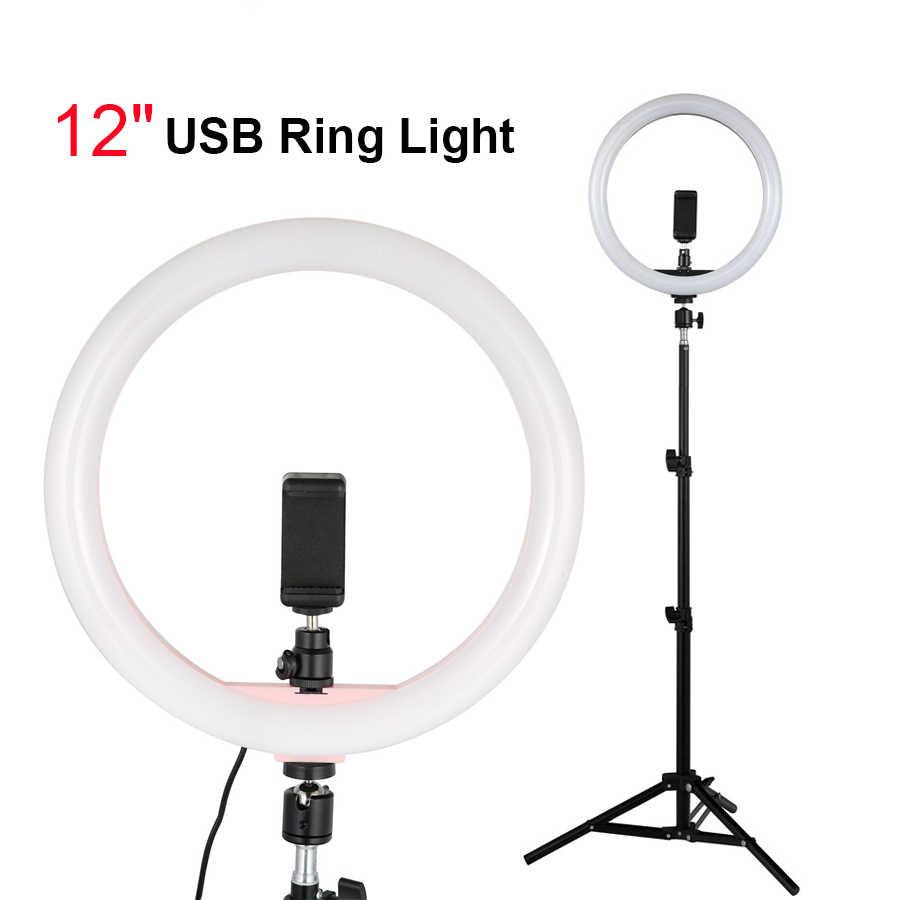GoodKE Selfie LED Ring Fill Light Photo Video Dimmable Lamp On-Camera Video Lights