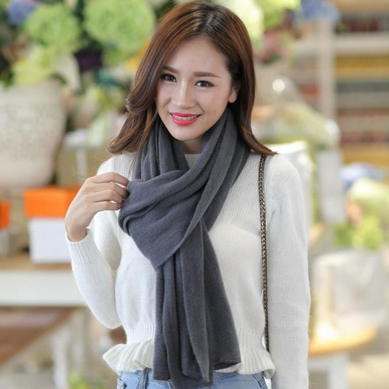 2019 Autumn And Winter New Style Korean-style Solid Color Faux Cashmere Couples Scarf Thick Warm Tablet Scarf Yiwu Manufacturers