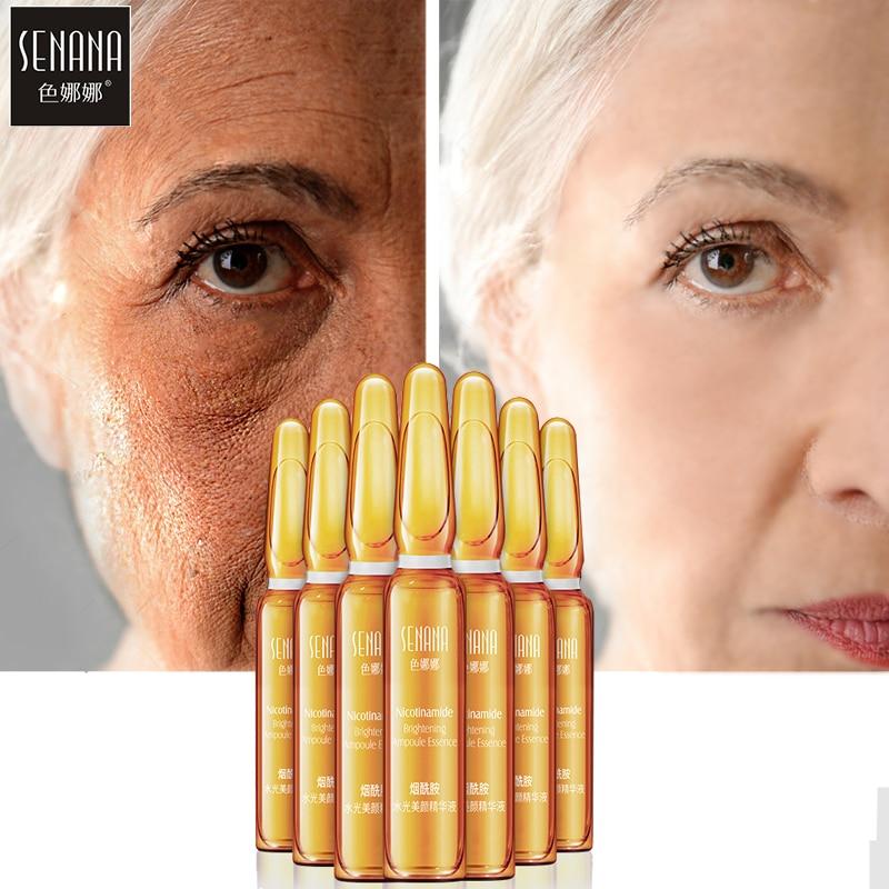 SENANA Niacinamide Whitening Face Serum Ampoule Moisturizing Anti-Aging Wrinkle Lifting Firming Skin Essence 2ml*7 Dropshipping
