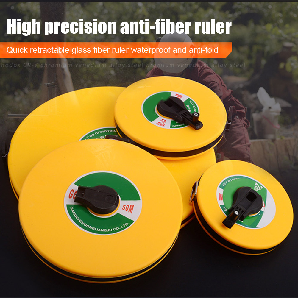 10/20/30/50/100M Hand Disc Ruler Carpenter Metric Measuring Meter Tape Measure Tool WHShopping
